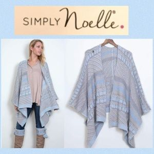 Simply Noelle Cottage Cardi Knitted Wrap Poncho